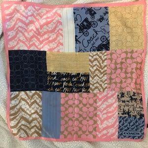 Coach lightweight silk scarf
